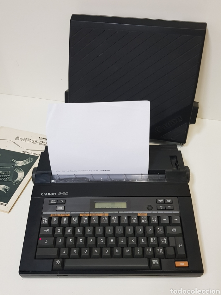 MÁQUINA DE ESCRIBIR VINTAGE / FUNCIONA /CANON S-80 (Antigüedades - Técnicas - Máquinas de Escribir Antiguas - Otras)