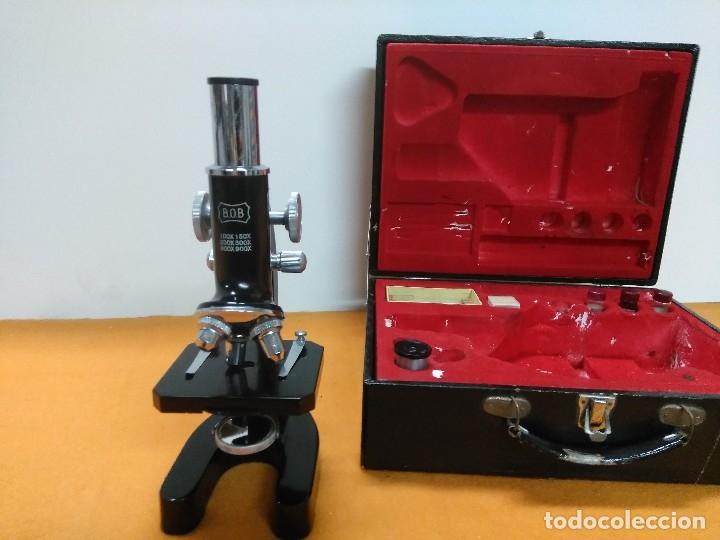 MICROSCOPIO BOB CON CAJA Y EXTRAS (Antigüedades - Técnicas - Instrumentos Ópticos - Microscopios Antiguos)