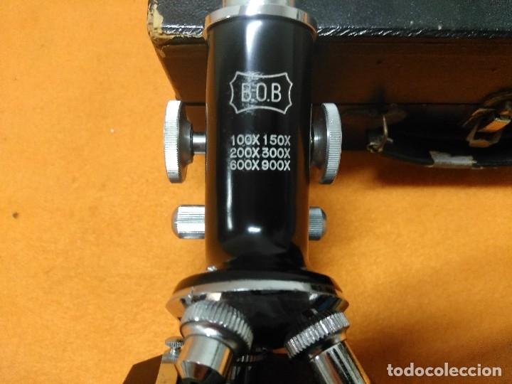 Antigüedades: MICROSCOPIO BOB CON CAJA Y EXTRAS - Foto 6 - 180396483
