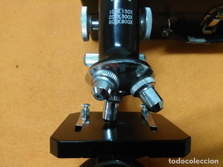 Antigüedades: MICROSCOPIO BOB CON CAJA Y EXTRAS - Foto 7 - 180396483