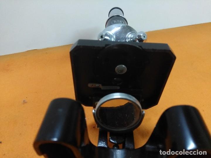 Antigüedades: MICROSCOPIO BOB CON CAJA Y EXTRAS - Foto 13 - 180396483