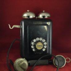 Teléfonos: ANTIGUO TELÉFONO STANDARD ELÉCTRICA, METÁLICO, CON CAMPANAS EXTERNAS. Lote 180152146