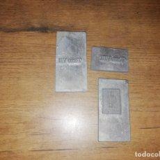 Antigüedades: MAGNÍFICO LOTE DE PLANCHAS DE IMPRENTA DEL DIE BALEAREN ( TOMO VII , TOMO VIII, LOGO SA NOSTRA). . Lote 180428787
