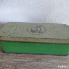 Antigüedades: CAJA METALICA SINGER DE ACCESORIOS. Lote 180446240