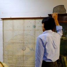 Antigüedades: 1850CA - GRAN MURAL ASTRONOMÍA SISTEMA SOLAR - 155CM. ILUMINADO A MANO.. Lote 180453777