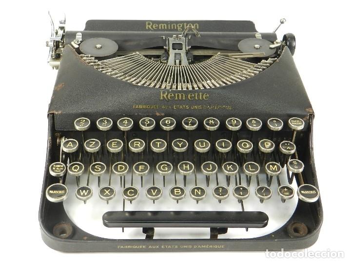 Antigüedades: MAQUINA DE ESCRIBIR REMINGTON REM-ETTE AÑO 1939 TYPEWRITER SCRHEIBMASCHINE - Foto 2 - 180479885