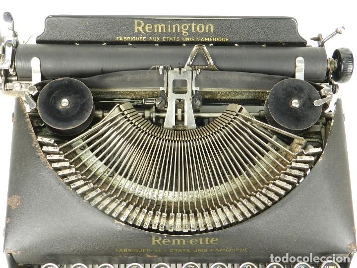Antigüedades: MAQUINA DE ESCRIBIR REMINGTON REM-ETTE AÑO 1939 TYPEWRITER SCRHEIBMASCHINE - Foto 6 - 180479885