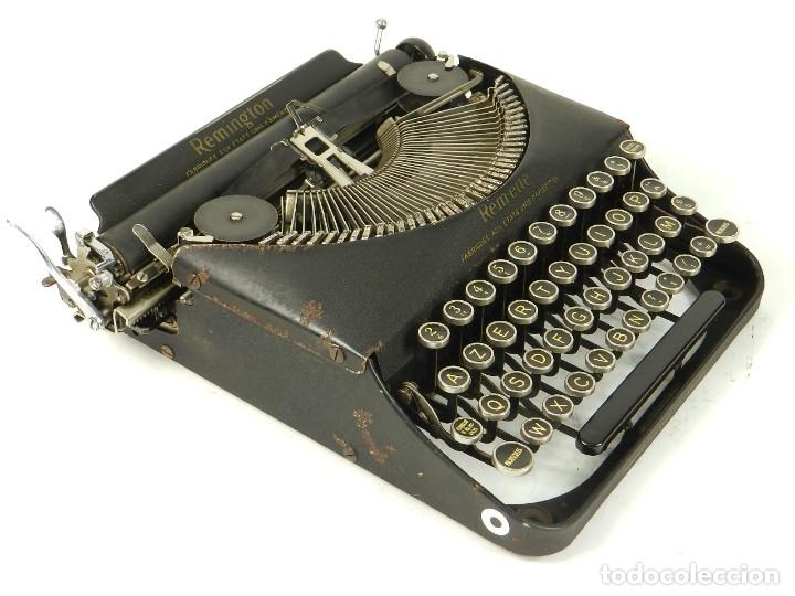 Antigüedades: MAQUINA DE ESCRIBIR REMINGTON REM-ETTE AÑO 1939 TYPEWRITER SCRHEIBMASCHINE - Foto 7 - 180479885