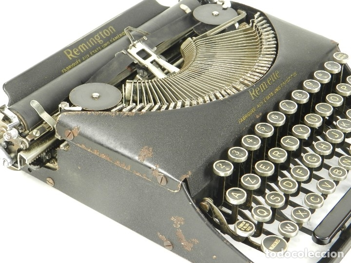 Antigüedades: MAQUINA DE ESCRIBIR REMINGTON REM-ETTE AÑO 1939 TYPEWRITER SCRHEIBMASCHINE - Foto 8 - 180479885