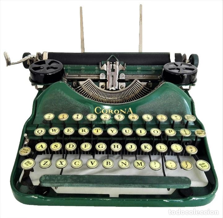 MAQUINA DE ESCRIBIR SMITH CORONA 4 VERDE (Antigüedades - Técnicas - Máquinas de Escribir Antiguas - Otras)