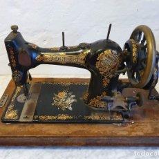 Antigüedades: MAQUINA DE COSER PORTATIL JONES. Lote 180906571