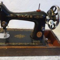 Antigüedades: MAQUINA DE COSER PORTATIL SINGER. Lote 180906605