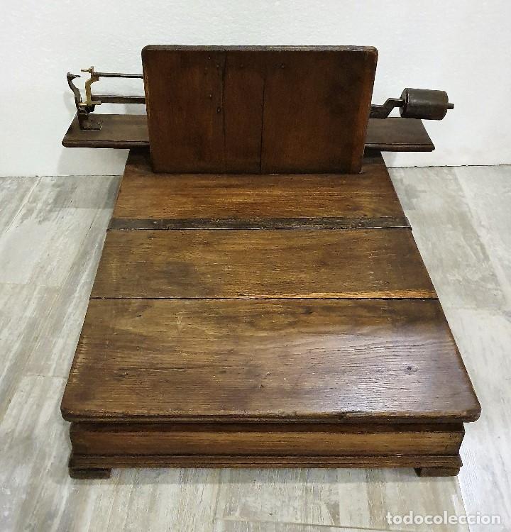 BASCULA MADERA (Antigüedades - Técnicas - Medidas de Peso - Básculas Antiguas)