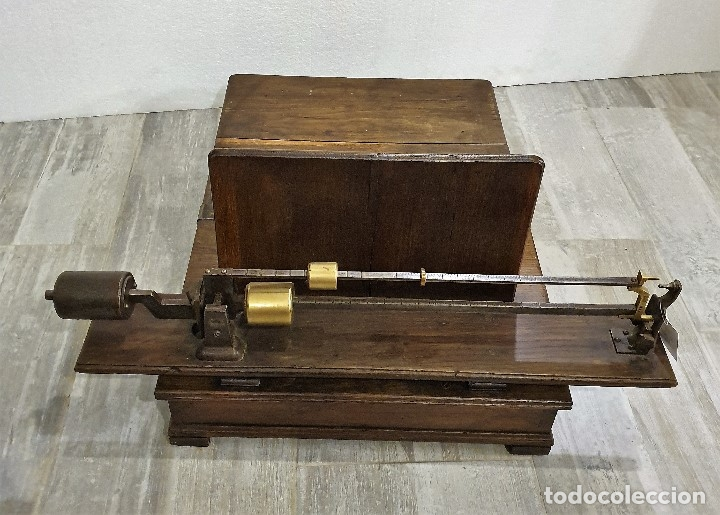 Antigüedades: BASCULA MADERA - Foto 4 - 180906986