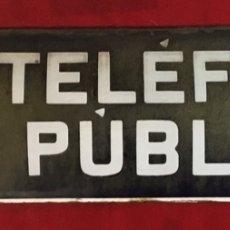 Teléfonos: PLACA ESMALTADA TELÉFONO PÚBLICO, DE LA CTNE, ACTUAL TELEFÓNICA. Lote 180918982