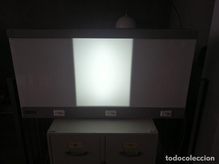 Antigüedades: Negatoscopio 3 cuerpos Agi Imsa Valencia. Cuadro mesa luz lámpara aplique pared. Funcionando - Foto 3 - 180926923