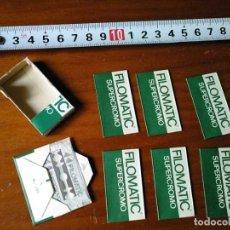 Antigüedades: FILOMATIC SUPERCROMO CAJITA CON 7 HOJAS DE AFEITAR. Lote 180931615