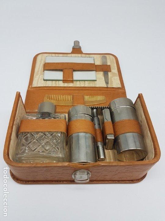 Antigüedades: KIT BARBERIA COMPLETO DE VIAJE ( AÑOS 50/60 ) - Foto 5 - 180936391