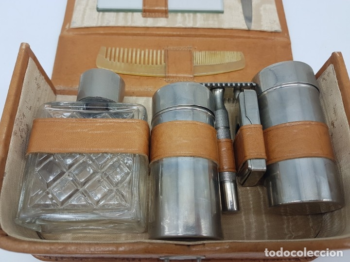 Antigüedades: KIT BARBERIA COMPLETO DE VIAJE ( AÑOS 50/60 ) - Foto 6 - 180936391
