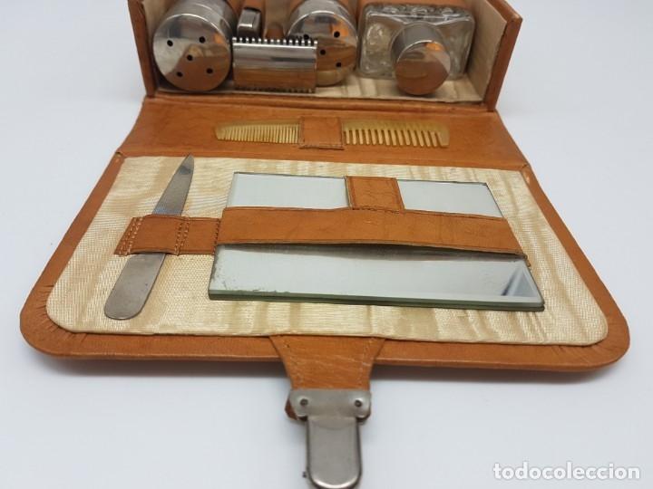Antigüedades: KIT BARBERIA COMPLETO DE VIAJE ( AÑOS 50/60 ) - Foto 10 - 180936391