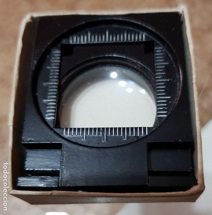 PEQUEÑA LUPA NUMISMÁTICA PARA MONEDAS Y SELLOS (Antigüedades - Técnicas - Instrumentos Ópticos - Lupas Antiguas)