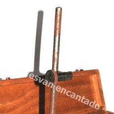 Oggetti Antichi: BASE MAGNÉTICA MARCA AGFOR. EN CAJA DE MADERA ORIGINAL. Lote 181010451