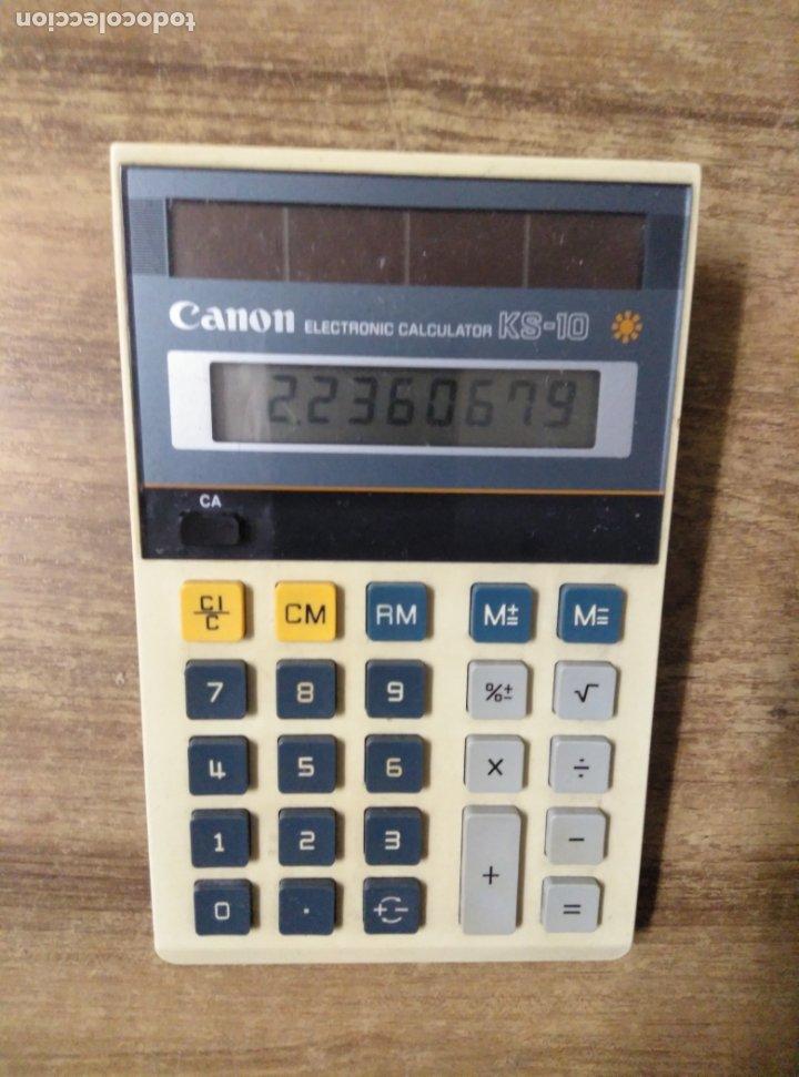 MFF.- CALCULADORA CANON ELECTRONIC CALCULATOR KS-10.- 17 X 10,5.- (Antigüedades - Técnicas - Aparatos de Cálculo - Calculadoras Antiguas)