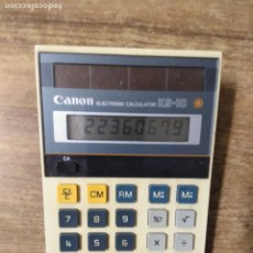 Antigüedades: MFF.- CALCULADORA CANON ELECTRONIC CALCULATOR KS-10.- 17 X 10,5.-. Lote 181010636