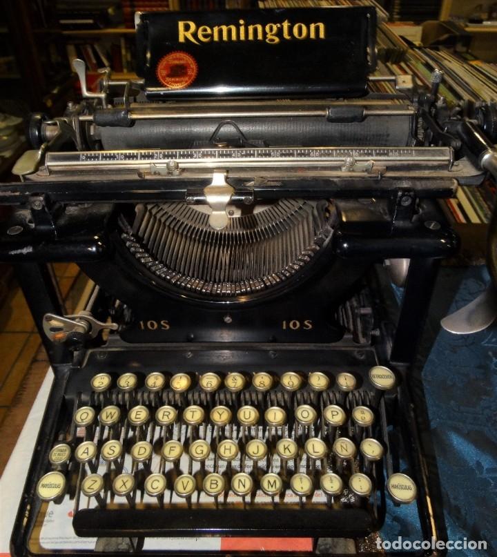 MÁQUINA DE ESCRBIR REMINGTON ANTIGUA Nº 10. AÑO 1910 (Antigüedades - Técnicas - Máquinas de Escribir Antiguas - Remington)