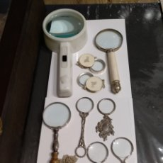 Antigüedades: LOTE DE 11 LUPAS MAGNÍFICO.. Lote 181156395