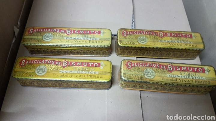 CAJAS DE SOLICITATOS DE BISMUTO (Antigüedades - Técnicas - Herramientas Profesionales - Medicina)