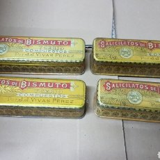 Antigüedades: CAJAS DE SOLICITATOS DE BISMUTO. Lote 181213571