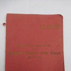 Antigüedades: INSTRUCCIONES PARA BORDAR, CON LA MAQUINA DE COSER SINGER. ORIGINAL DE 1924, ILUSTRADO...UNA JOYA.. Lote 181412627