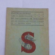 Antigüedades: INSTRUCCIONES PARA LA REPRODUCCION DE BORDADOS DE SINGER, AÑOS 20. DEL LIBRO DE BORDADOS.. Lote 181412990