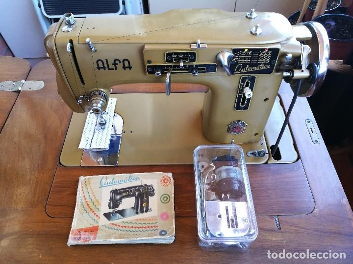 Antigüedades: Máquina de coser ALFA - Foto 8 - 181415473