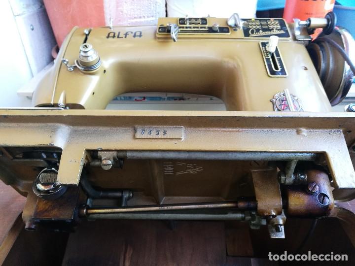 Antigüedades: Máquina de coser ALFA - Foto 9 - 181415473