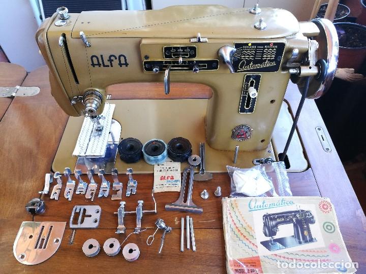 Antigüedades: Máquina de coser ALFA - Foto 14 - 181415473
