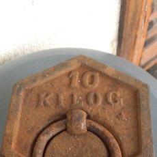 Antigüedades: PESA HEXAGONAL DE 10 KILOGRAMOS. Lote 181422267