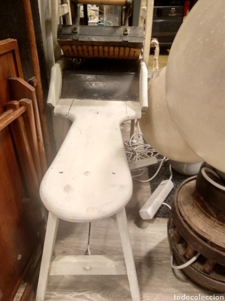 Antigüedades: Aparato, antigua máquina cardar lana - Foto 2 - 181424857
