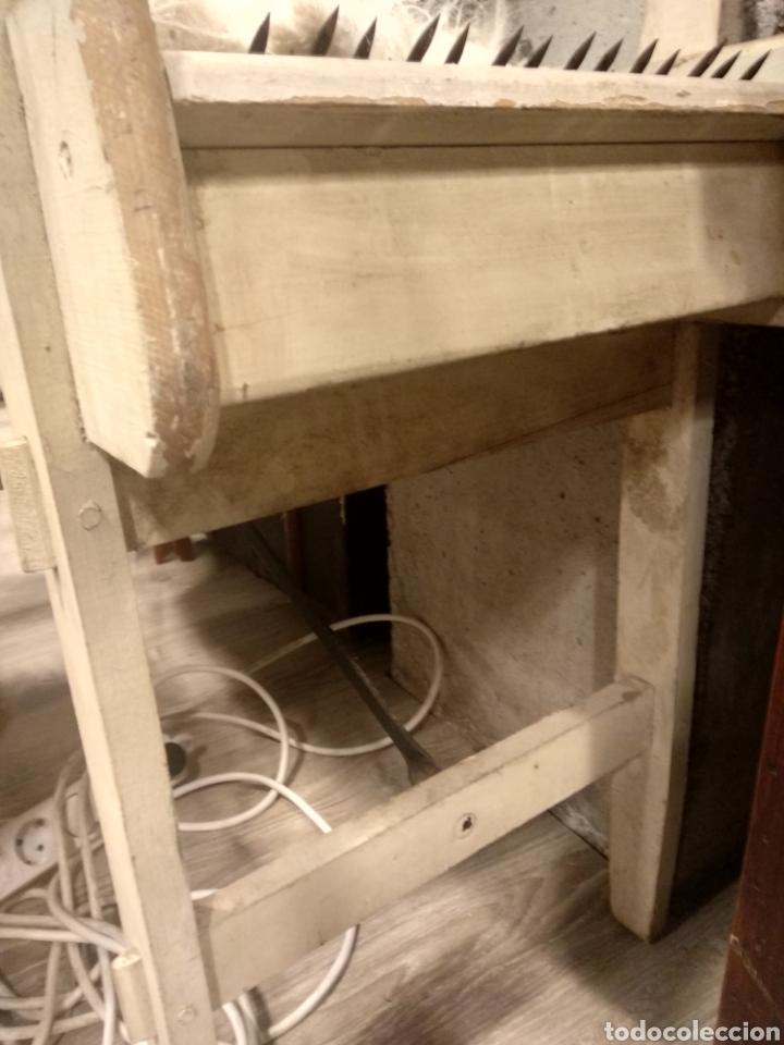 Antigüedades: Aparato, antigua máquina cardar lana - Foto 5 - 181424857