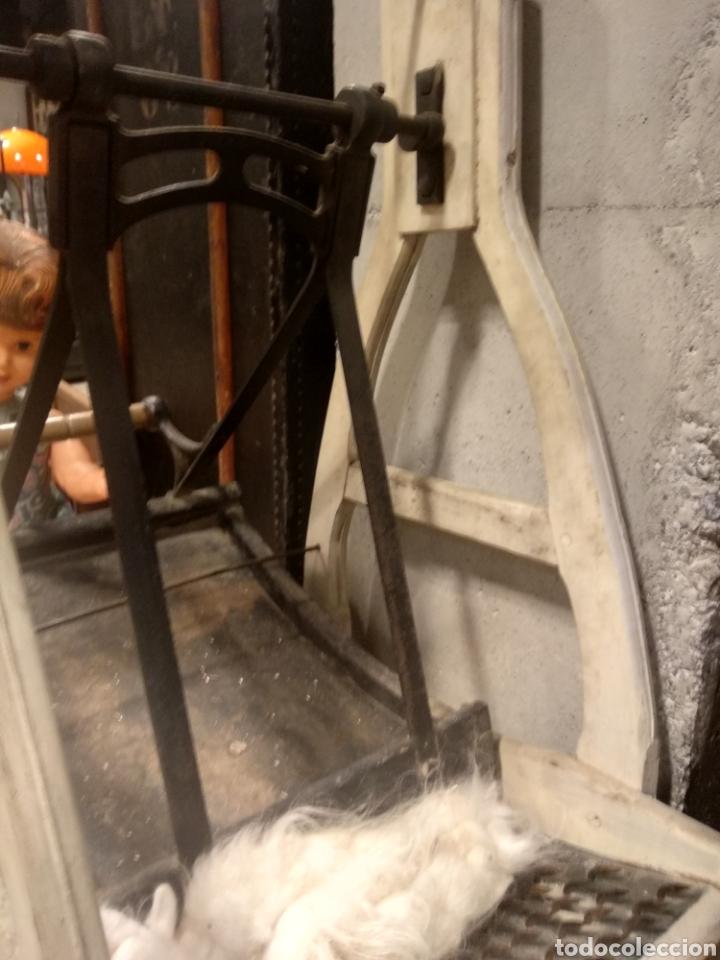 Antigüedades: Aparato, antigua máquina cardar lana - Foto 6 - 181424857
