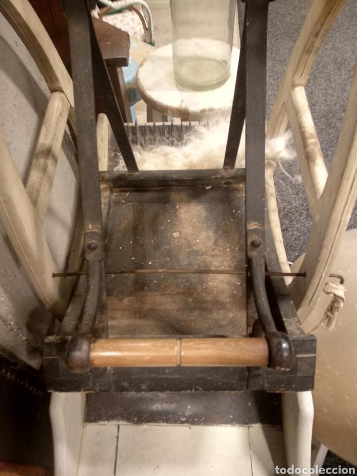 Antigüedades: Aparato, antigua máquina cardar lana - Foto 7 - 181424857