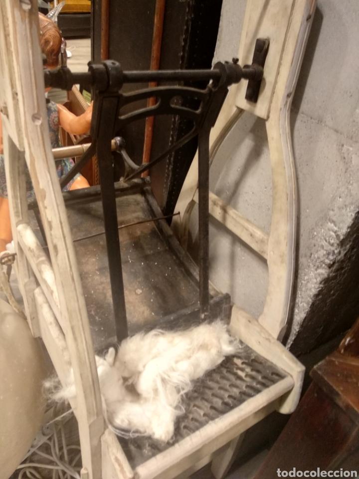 Antigüedades: Aparato, antigua máquina cardar lana - Foto 8 - 181424857