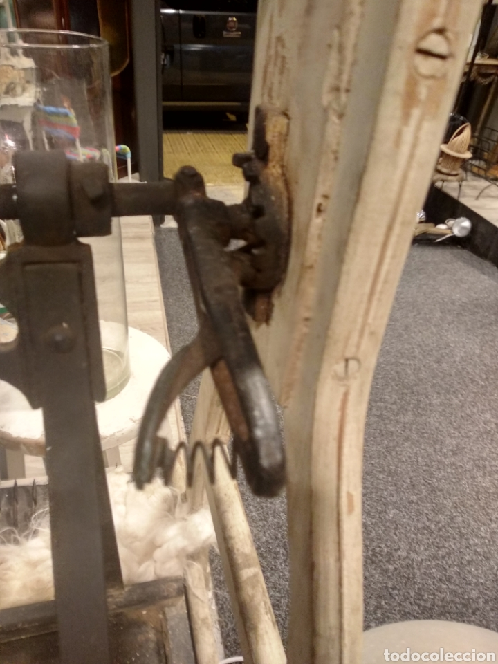 Antigüedades: Aparato, antigua máquina cardar lana - Foto 9 - 181424857