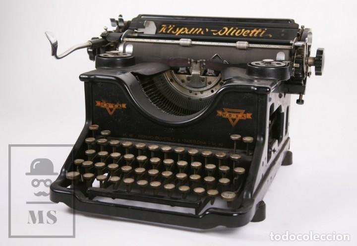 ANTIGUA MÁQUINA DE ESCRIBIR HISPANO-OLIVETTI M 40 / H.O. S.A. - BARCELONA, AÑOS 30 (Antigüedades - Técnicas - Máquinas de Escribir Antiguas - Olivetti)