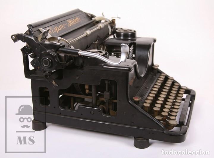 Antigüedades: Antigua Máquina de Escribir Hispano-Olivetti M 40 / H.O. S.A. - Barcelona, Años 30 - Foto 2 - 181454350