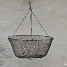 Antigüedades: RETEL ANTIGUO FRANCES PARA CANGREJOS. Lote 181456506