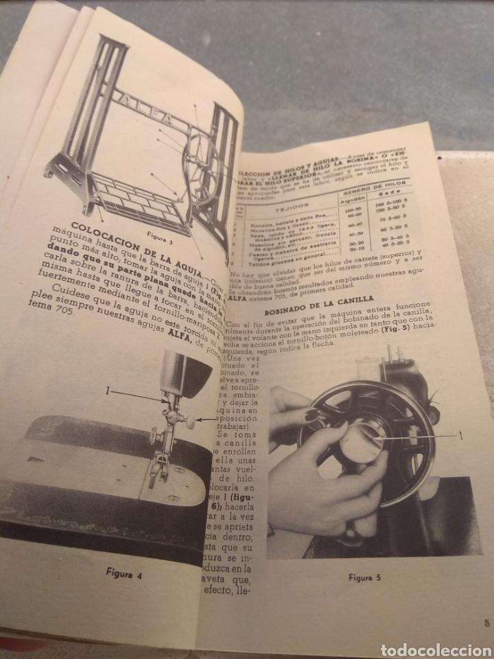 Antigüedades: Libro de Instrucciones Máquina de Coser Alfa de Bobina Central modelo 20 A - Foto 3 - 181482110
