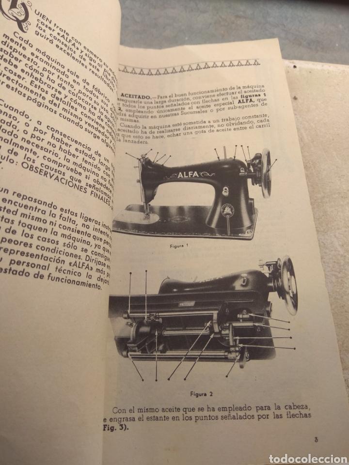 Antigüedades: Libro de Instrucciones Máquina de Coser Alfa de Bobina Central modelo 20 A - Foto 4 - 181482110