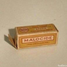 Antiguidades: MALOCIDE - 1956 CAJA ENVASE Y PROSPECTO MEDICAMENTO. Lote 181492743